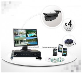4 Camera System with 700TVL 200ft IR Cameras