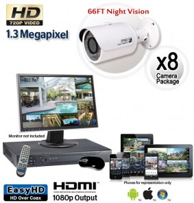 8 Cam HD Security Camera System