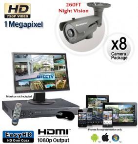 16 Camera HD System, Night Vision Security Cameras 260ft