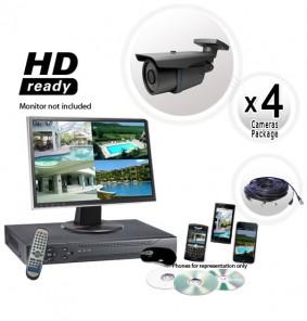 4 Camera Outdoor System 600TVL Medium Range Lens