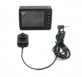 Portable DVR with LCD and Mini Hidden Camera