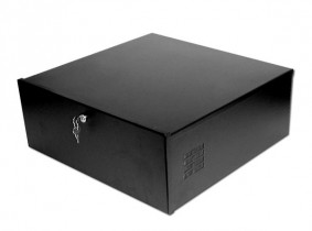 DVR VCR Desktop Security Lockbox with Fan