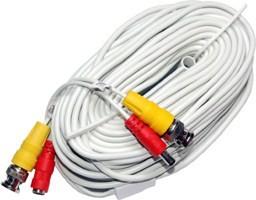 50ft Siamese Video Coax Cable - White