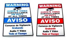 """9"""" x 6"""" Warning Sign"""
