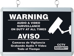 Warning Sign with flashing LED (not seen in picture)
