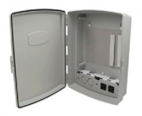 Weather proof enclosure with AC outlets