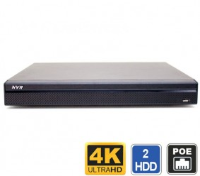 4K 16 Channel NVR with PoE