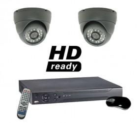 2 Camera CCTV System with Dome Cameras