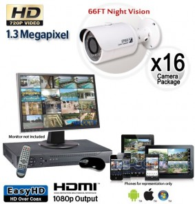16 Cam HD Security Camera System