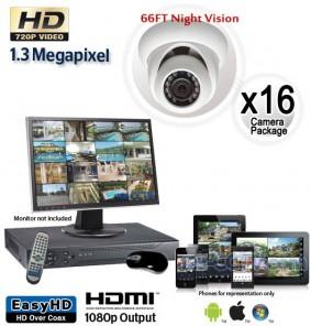 1.3 Megapixel 16 Dome Camera System