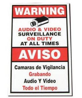 "18"" x 12"" Warning Sign"