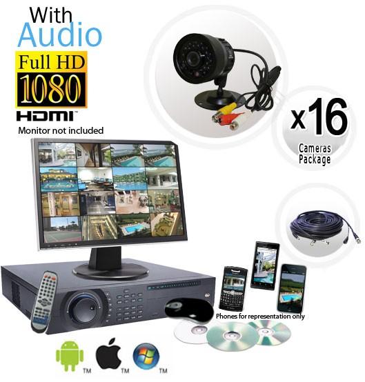 Cctv Cameras With Audio 16 Camera System