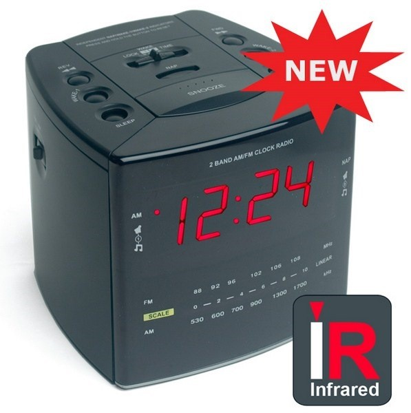 spy camera clock radio with infrared and dvr. Black Bedroom Furniture Sets. Home Design Ideas