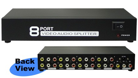 1 To 8 Video Audio Distributor