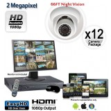 12 Camera 2 MP 1080p Dome Camera System