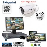12 Camera 2MP 1080p Outdoor Bullet Camera System