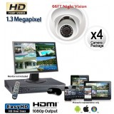1.3 Megapixel 4 Dome Camera System