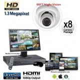 1.3 Megapixel 8 Dome Camera System