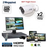 2 Camera 2MP 1080p Outdoor Bullet Camera System