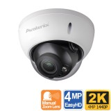 2K 1080P Outdoor Dome Security Camera, 100ft Night Vision, Manual Zoom Lens