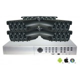 16 Camera Security System with 200ft Night Vision Cameras