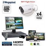 4 Camera 2MP 1080p Outdoor Bullet Camera System