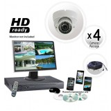 4 Dome Camera System with White Domes
