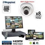 8 Camera 2 MP 1080p Dome Camera System