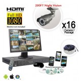 FULL HD 16 Camera Surveillance System Long Range Infrared