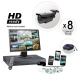 8 Surveillance Camera System 200ft Night Vision