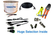 security camera cable and tools