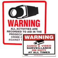 Security Stickers & Signs