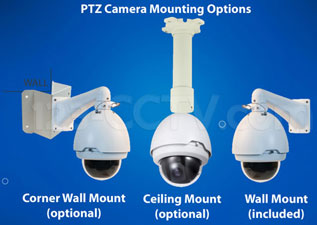 PTZ mounting options
